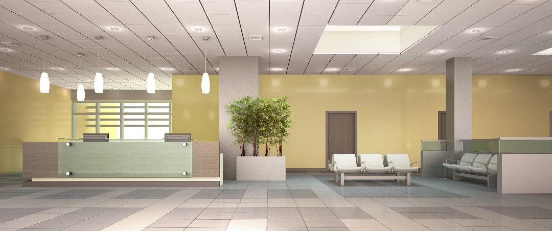 Wallcovering in a healthcare environment