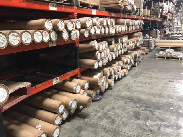 Storing commercial wall coverings