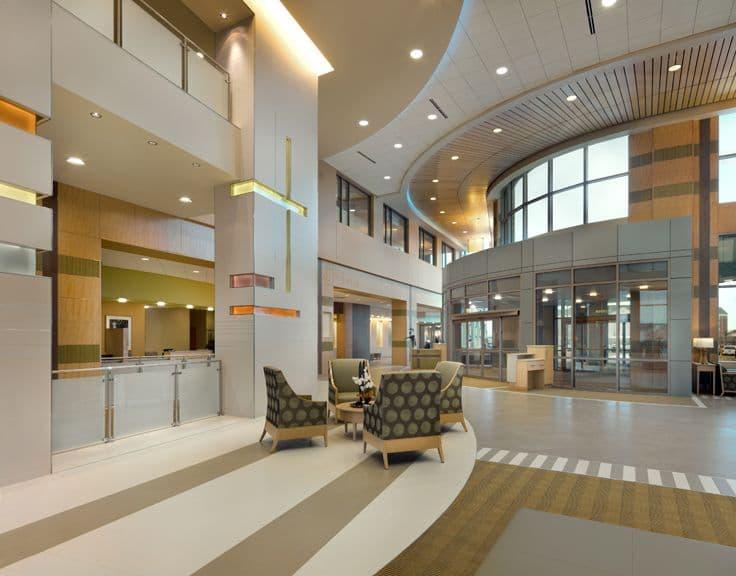 medical interior wallpaper: Hospital-lobby-wallpaper