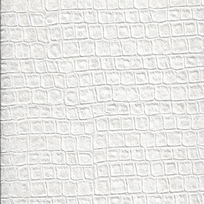 Pearl White Alligator Textured Wallpaper Wallscape